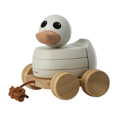 Picture of Hevea®  Kawan rubberwood stacker & pull toy