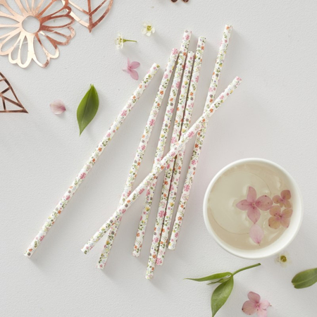Picture of Ginger Ray® Floral Paper Straws - Ditsy Floral