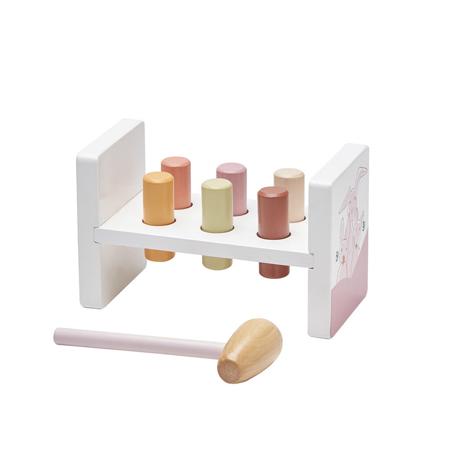Slika Kids Concept® Lesena igračka s kladivom Edvin Pink