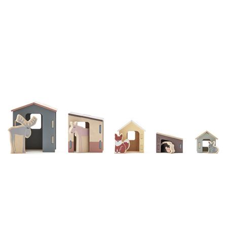 Slika Kids Concept®  Komplet majhnih lesenih hišk