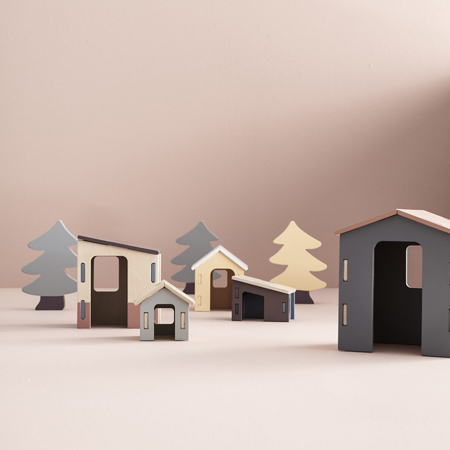 Picture of Kids Concept® Small wooden houses set