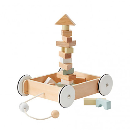 Picture of Kids Concept® Wagon with blocks