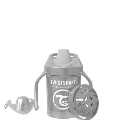 Twistshake® Lonček Mini Cup 230ml (4+m) Pearl Grey