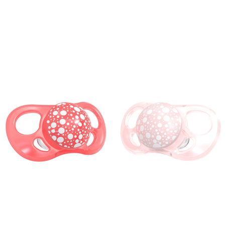 Picture of Twistshake 2x Pacifier Pearl Pink&Red (0+/6+)  - 6+M