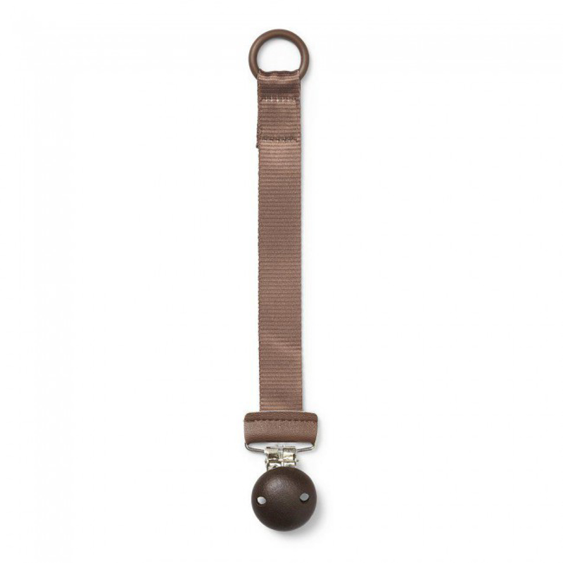 Picture of Elodie Details® Pacifier Clip Wood Chocolate