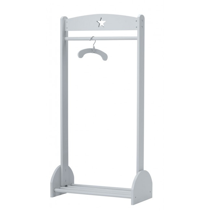 Picture of Kids Concept® Clothes rail grey STAR