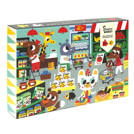Picture of Petit Monkey® Puzzle Supermarket 48pcs