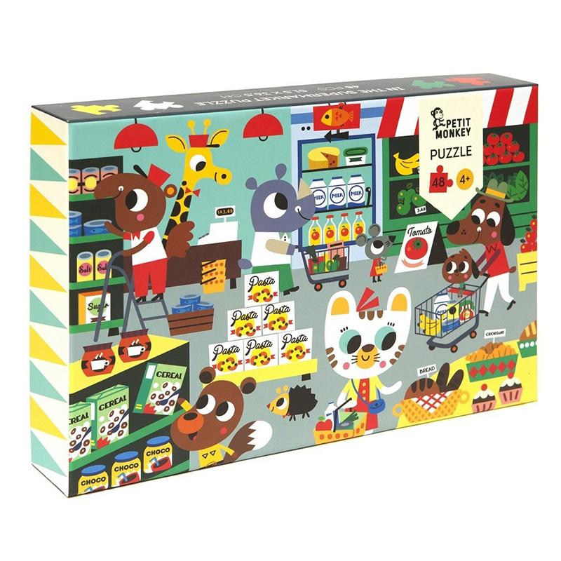 Picture of Petit Monkey® Puzzle Supermarket 48pcs