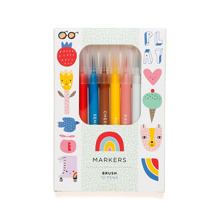 Picture of Petit Monkey® 10 felt tip brush pens