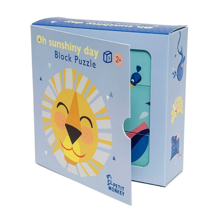 Picture of Petit Monkey® Oh shiny day Block puzzle 9 pcs