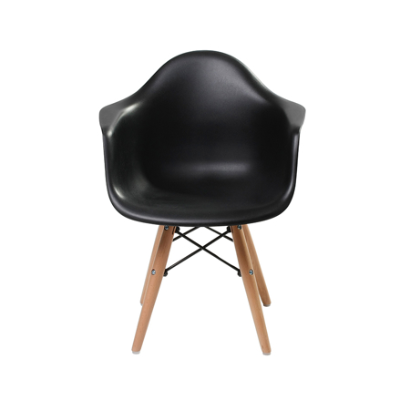 Picture of Scandinavian Inspired Kid's Armchair Black