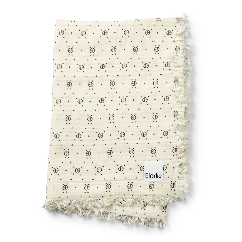 Picture of Elodie Details Soft Cotton Blanket - Monogram Print