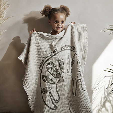 Picture of Elodie Details Soft Cotton Blanket - Kindness Cat