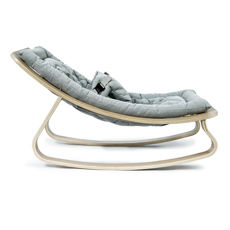 Charlie Crane® Baby Rocker LEVO with Blue cushion