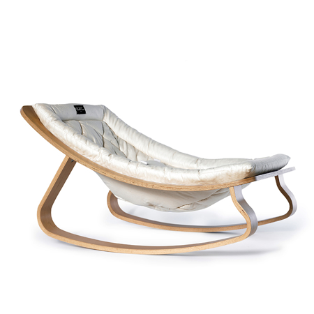 Charlie Crane® Baby Rocker LEVO with White cushion