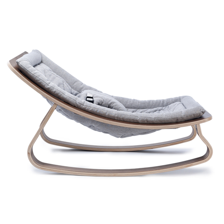 Charlie Crane® Baby Rocker LEVO with Noyer Grey cushion