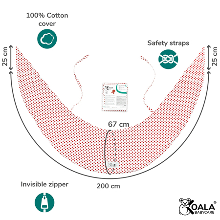 Koala Babycare® Pillowcases for pillow for pregnant women Hug Comfy Red