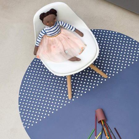 Toddlekind® Clean Wean Mat Blue Pansy