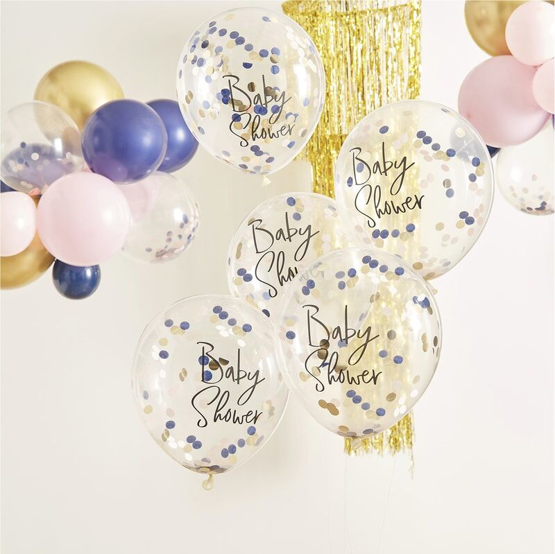 Picture of Ginger Ray® Gender Reveal - Confetti 'Baby Shower' Balloons