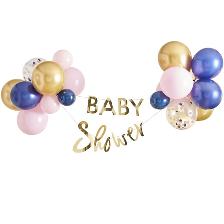 Picture of Ginger Ray® Gender Reveal - Gold Foiled 'Baby Shower' Bunting