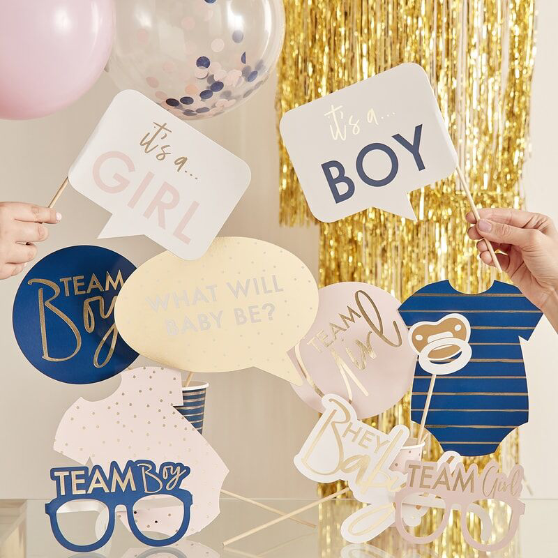 Picture of Ginger Ray® Gender Reveal - Customisable Gender Reveal Photo Booth Props