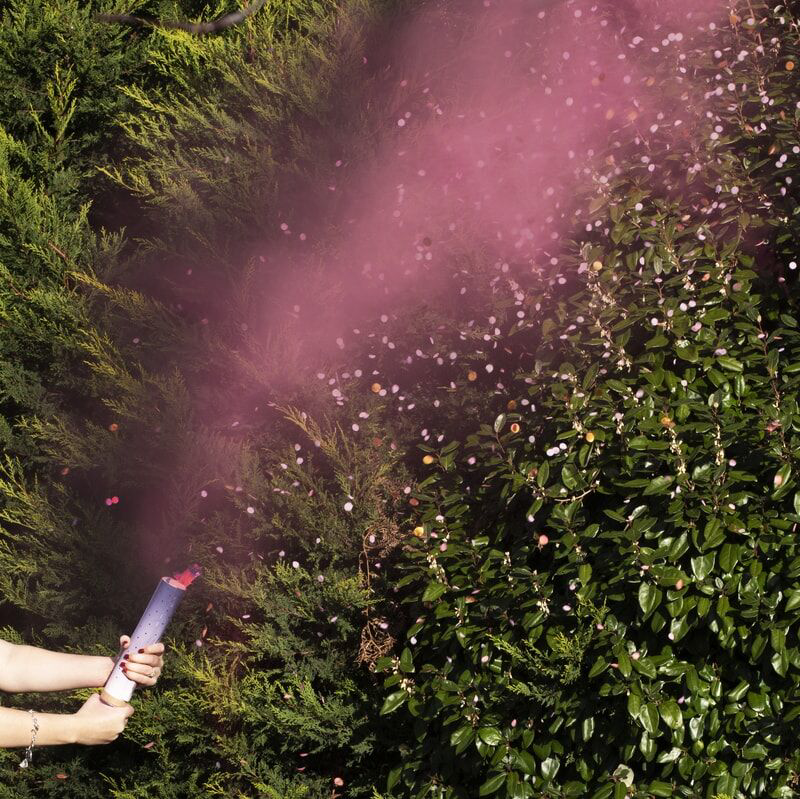 Picture of Ginger Ray® Gender Reveal - Pink Gender Reveal Smoke Cannon