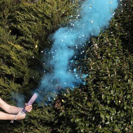 Picture of Ginger Ray® Gender Reveal - Blue Gender Reveal Smoke Cannon