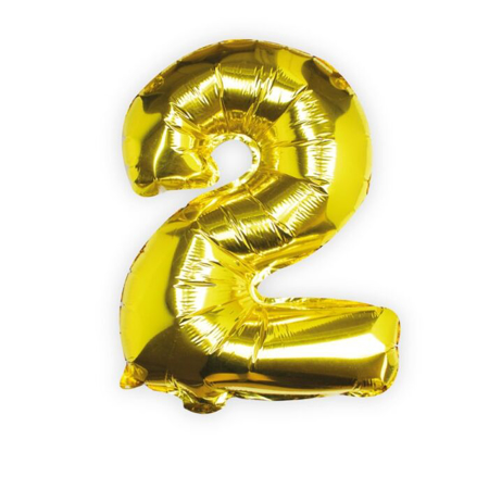 Picture of Ginger Ray® Gold Foil Number 2 Ballon Pick and Mix
