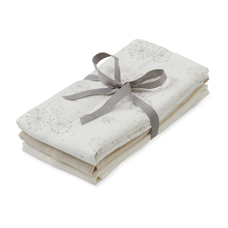 Picture of CamCam® Musling Cloth - Mix Dandelion Natural, Light Sand, Creme White 3pack