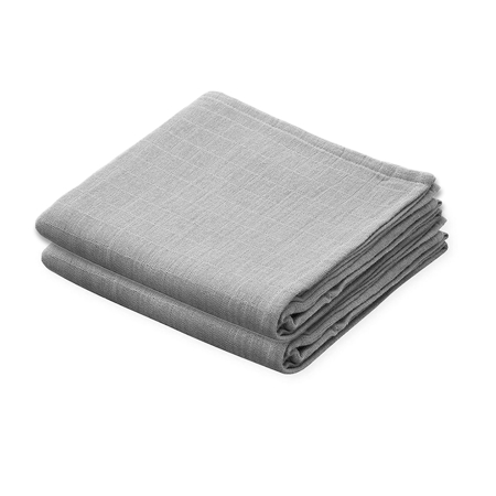 Picture of CamCam® Musling Cloth Grey 2pack (70x70)