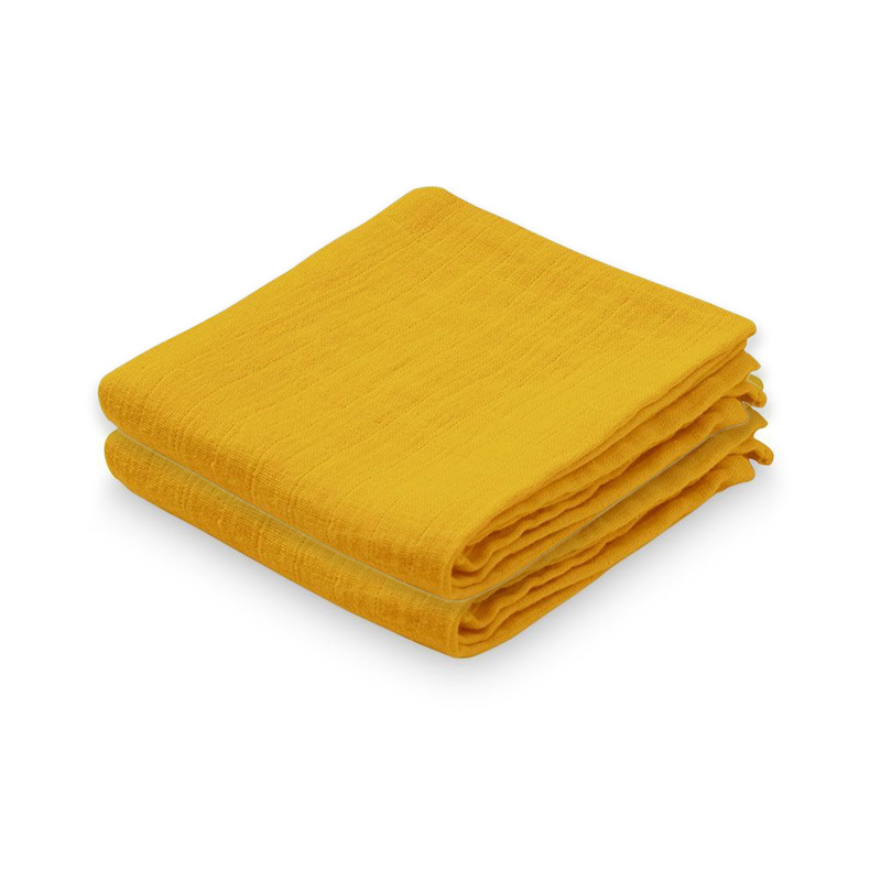 Picture of CamCam® Musling Cloth Mustard 2pack (70x70)