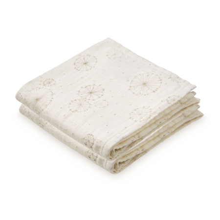 Picture of CamCam® Musling Cloth Dandelion Natural 2pack 70x70