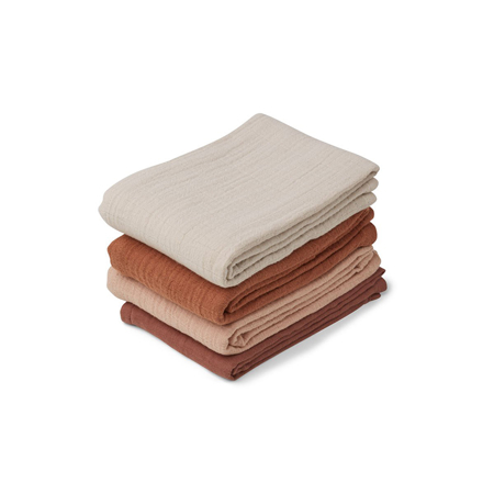 Picture of Liewood® Leon Muslin Cloth 4 Pack - Rose mix