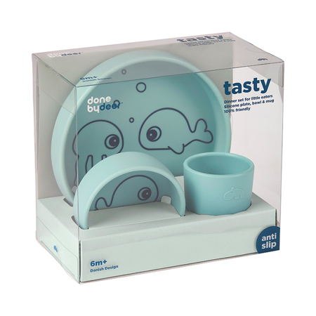 Picture of Done by Deer® Silicone dinner set Sea friends Blue