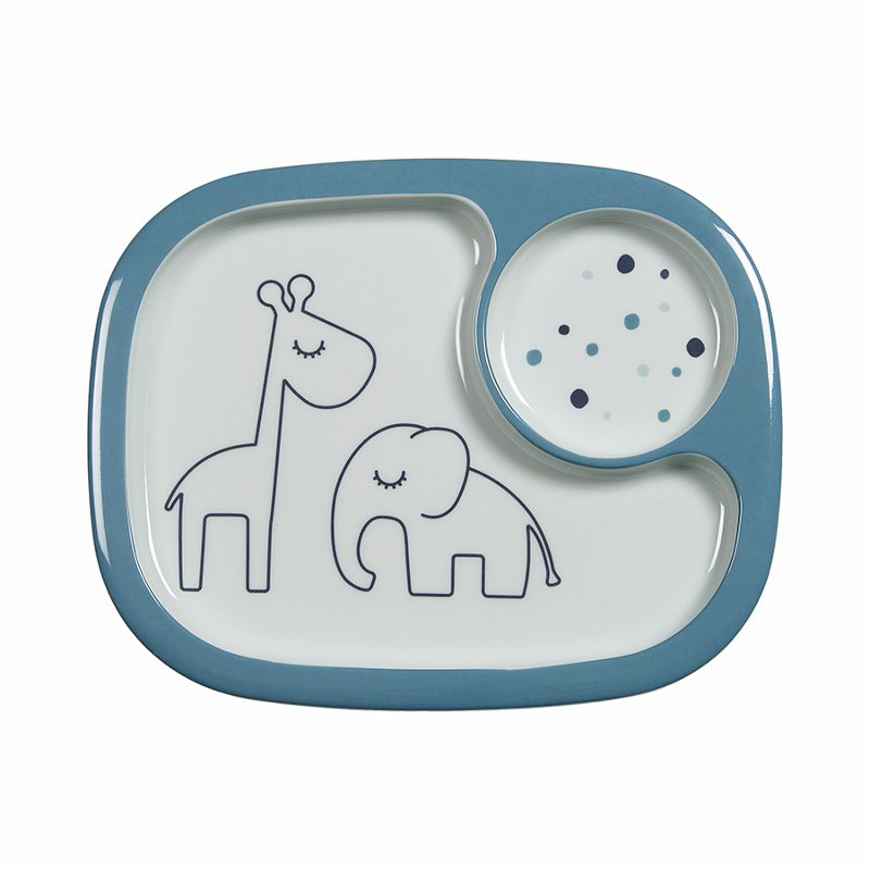 Picture of Done by Deer® Yummy mini compartment plate Dreamy dots Blue