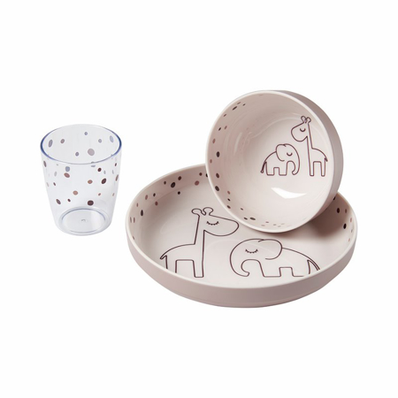 Picture of Done by Deer® Yummy mini dinner set Dreamy dots Powder