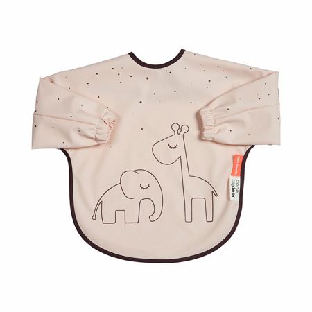 Picture of Done by Deer® Sleeved bib Dreamy dots Powder 6-18m