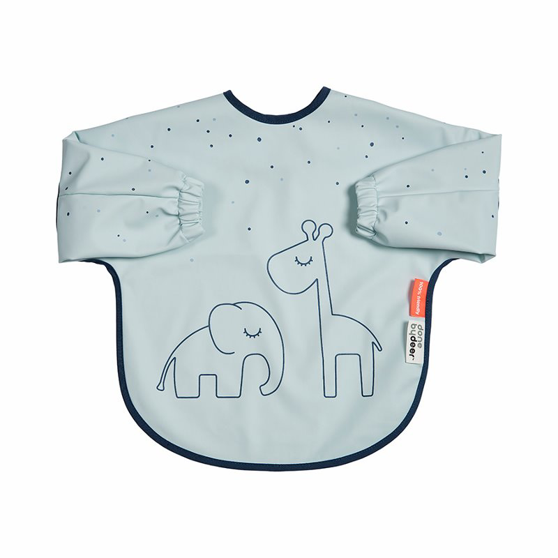 Picture of Done by Deer® Sleeved bib Dreamy dots Blue 6-18m