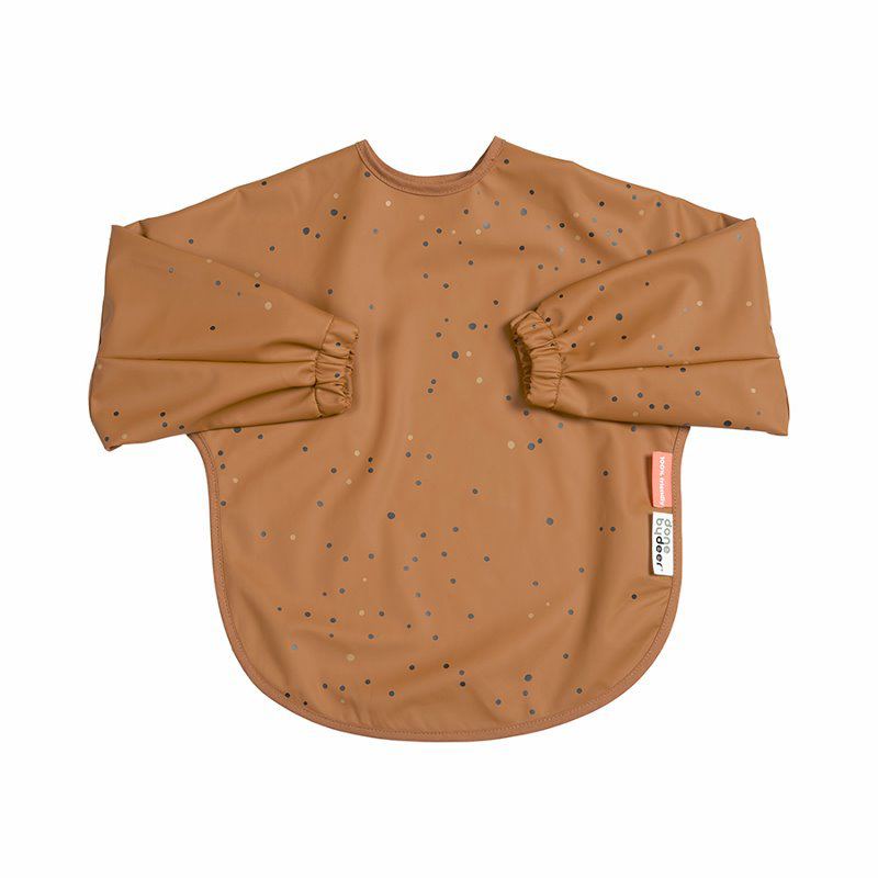 Picture of Done by Deer® Sleeved bib Dreamy dots Mustard 18+m
