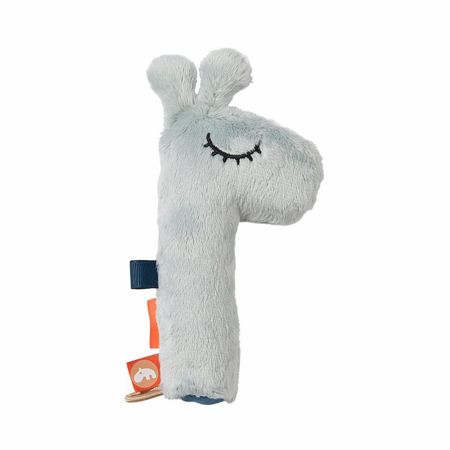 Picture of Done by Deer® Squeaker rattle Raffi Blue