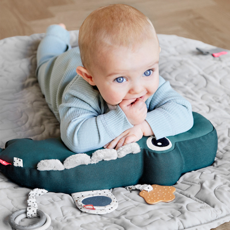 Picture of Done by Deer® Tummy time activity toy, Croco Green