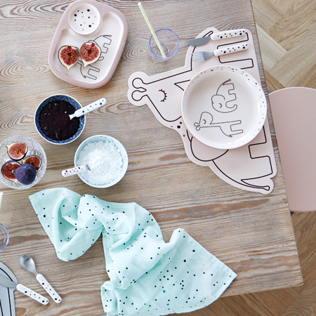 Picture of Done by Deer® Cutlery set, Dreamy dots Grey
