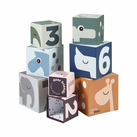 Picture of Done by Deer® Stacking cubes Deer friends