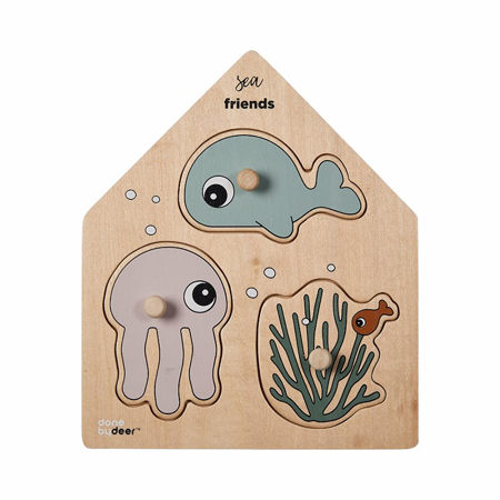 Picture of Done by Deer® Peg puzzle, Sea friends