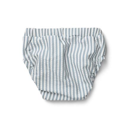 Picture of Liewood® Frej baby boy Swim pants Seersucker Sea Blue/White