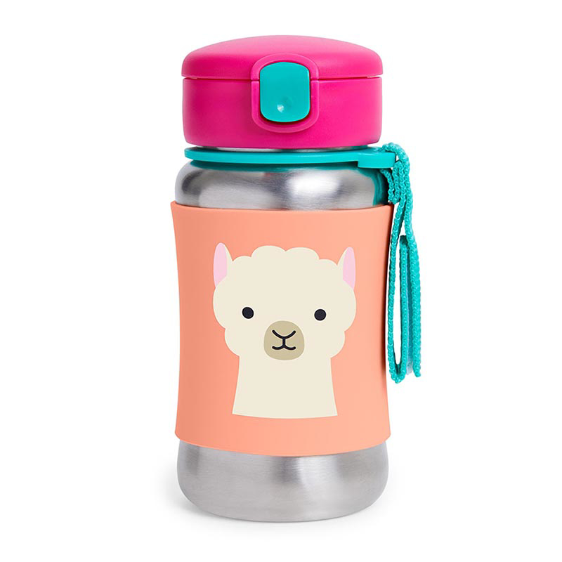 Picture of Skip Hop® Stainless Steel Kids Straw Bottle Lama