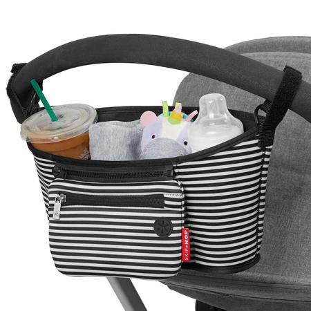 Skip Hop® Grab&Go Stroller Organizer Black & White Stripe