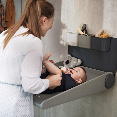 Picture of Leander® Wally™ Wall mounted changing table Cappucino
