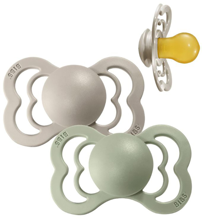 Picture of Bibs® Baby Pacifier Supreme Latex Sage&Sand 2 (6-36m)
