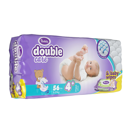 Picture of Violeta® Double Care Aircare 4+ (9-20 kg) 56 Pcs